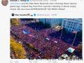 华盛顿集会爆发混战 特朗普发文怒斥:腐败的选举