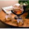 地球仪造型玻璃酒瓶空心白酒瓶吹制玻璃酒瓶地球仪醒酒器
